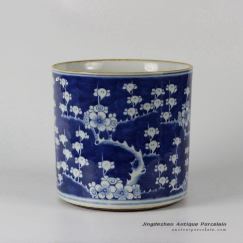 RYLU24-d_Blue and White Plum Blossom Ceramic Container
