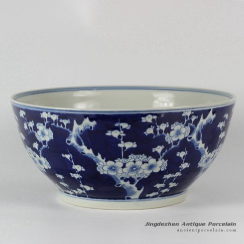 RYLU26-A_Plum Blossom Blue and White Porcelain Bowl