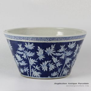 RYLU27_Bamboo Design Blue and White Porcelain Planters