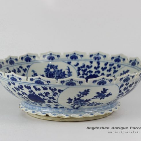 RYLU28_Porcelain Flower Design Blue and White Bowls