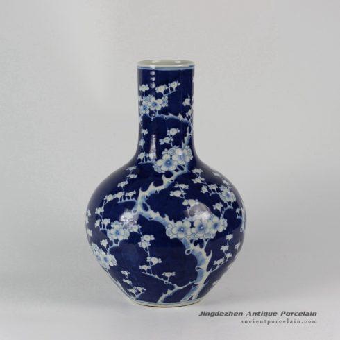 RYLU30_Hand painted White Blue Plum blossom Porcelain Vases