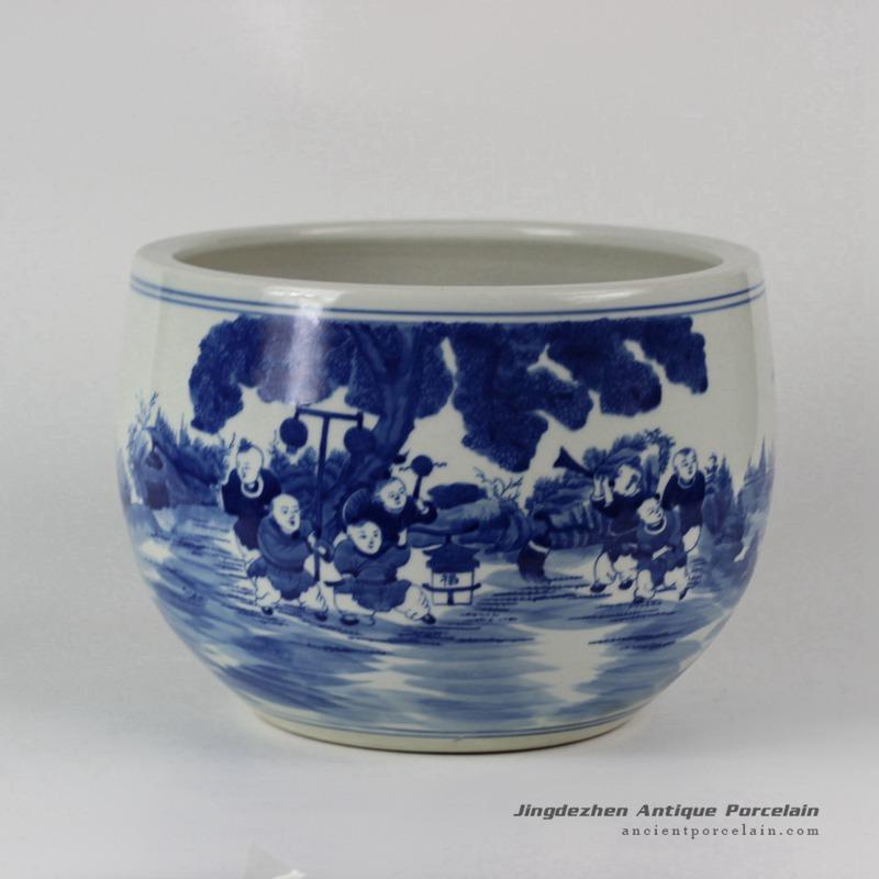RYLU32_Hand painted Children Ceramic Fish bowls