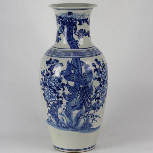 RYLU33_Flower Bird Blue and White Porcelain Vases