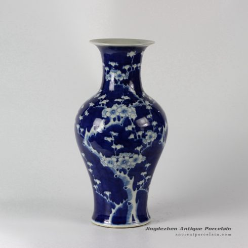 RYLU36_Hand painted Plum blossom Blue and White Ceramic Vases