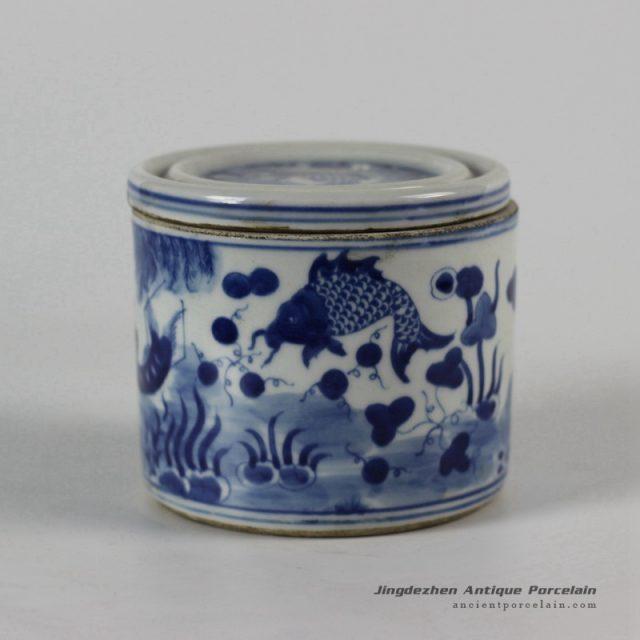 RYLU50-a_Blue and White Ceramic Pots
