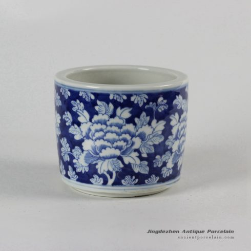RYLU51_Blue and White Flower design Ceramic Pots