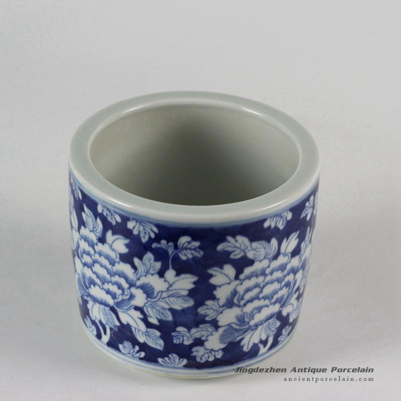 Rylu51 Blue And White Flower Design Ceramic Pots Chinese Antique Porcelain Jingdezhen Ancient