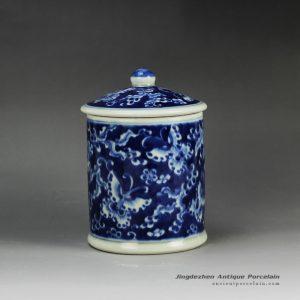 RYLU59-A_Blue and white treasure storage lidded tin jar