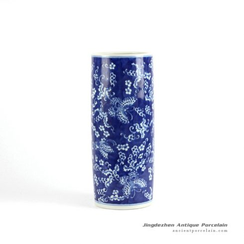 RYLU70-A_Blue and white hand painted ceramic home decoration vases
