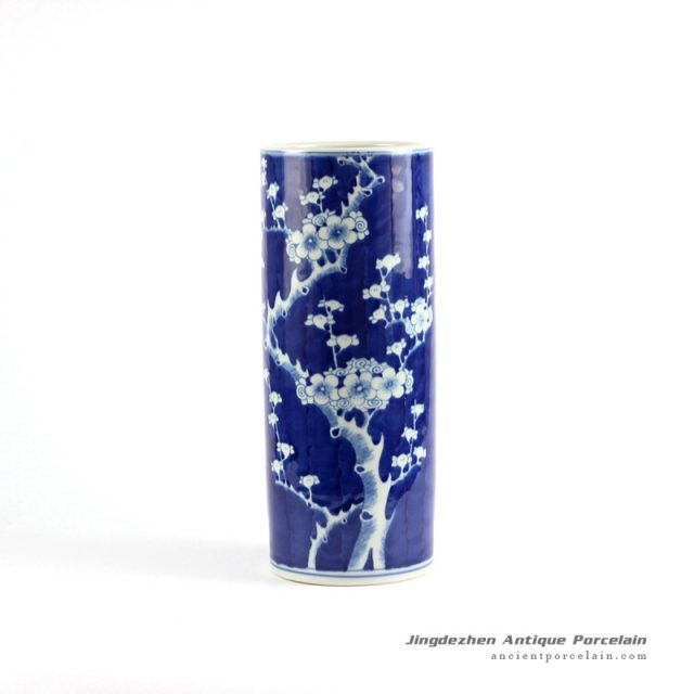 RYLU70-B_Blue and white hand painted ceramic home decoration vases