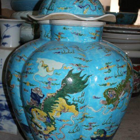 RYQQ29_27.5inch Qing dynasty reproduction Ceramic Jar