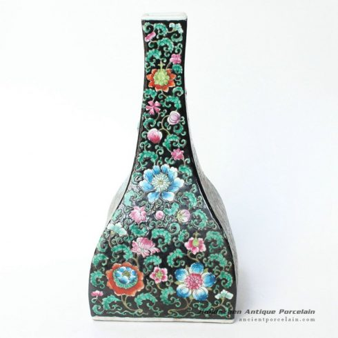RYQQ31_15inch Qing dynasty reproduction floral design Square Ceramic Vase