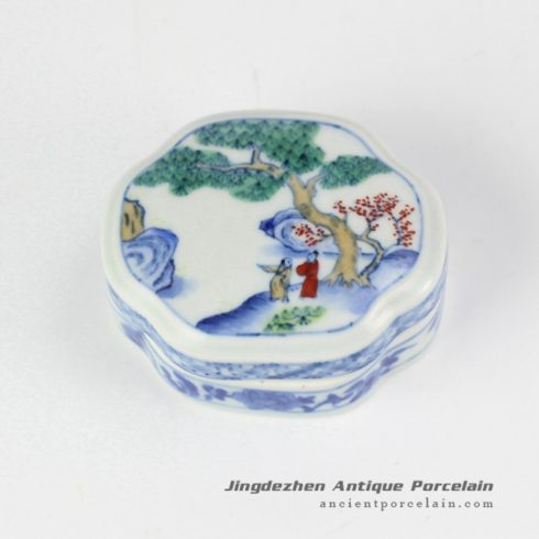 RYAS148_discount price hand painted ancient Chinese pattern ceramic cosmetic box Jewel gift container