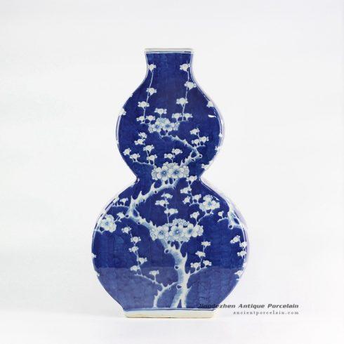 RYLU108_Cucurbit shape cherry blossom pattern ceramic vase