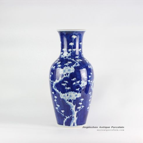 RYLU117_Reproduction wax gourd shape blue and white big ceramic vase