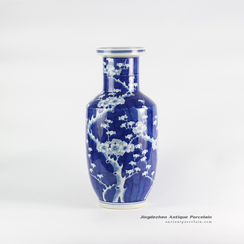 Rylu118plum Blossom Pattern Hand Paint Blue And White Porcelain