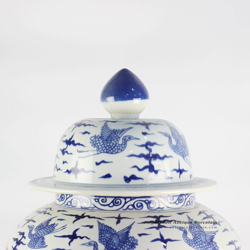 RYLU122_Chinoiserie Crane Pattern Home Decor Ceramic
