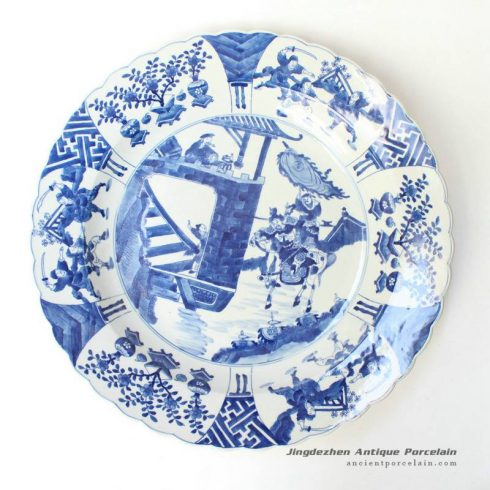 RYQQ44_17inch Chinese Porcelain Blue and White Charger