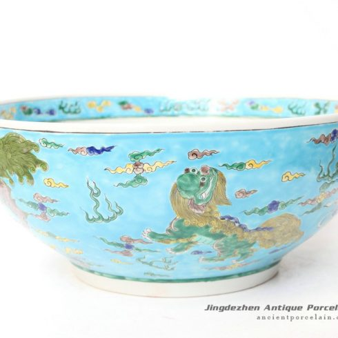 RYQQ47_15inch Hand painted Chinese Porcelain Bowl
