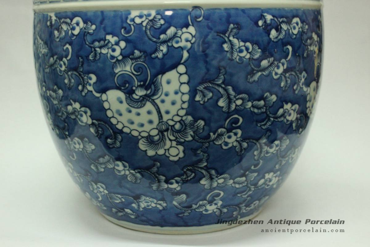 Rywd13 Oriental Blue And White Flower Pot Chinese