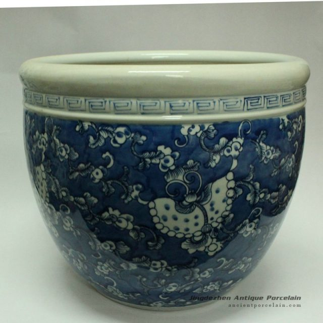 RYWD13_oriental blue and white flower pot