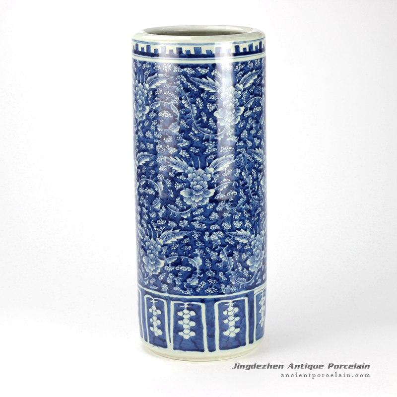 RYWD20_delicate hand paint blue white ceramic umbrella stand