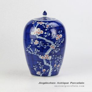 RYWG13_Asian Chinese style plum blossom unique hand paint candle jar
