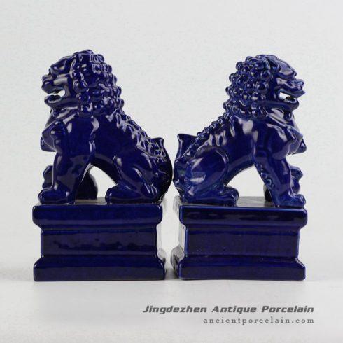 RYXP21-B_ Plain color Chinese style ceramic lion statue