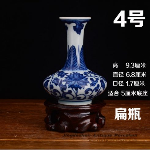 RZEV02-H_tiny fancy hand painted floral ceramic display vase