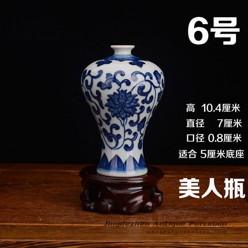 RZEV02-I_tiny fancy hand painted floral ceramic display vase