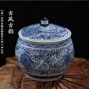 RZFQ07_large capacity household blue and white ceramic jar