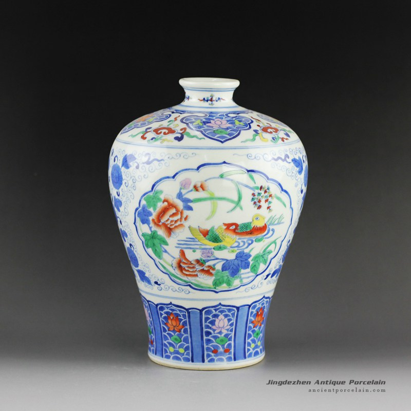 14as137qing Dynasty Reproduction Jingdezhen Porcelain Vases Hand