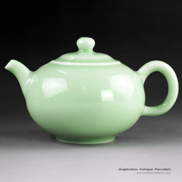 14CS43_Solid color ceramic tea pots blue, green, red etc.
