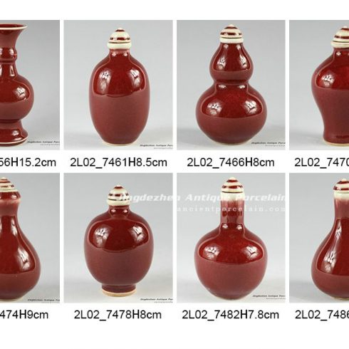 2L02_8 designs Ox blood small porcelain vase