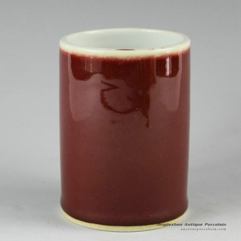 2L03_Porcelain Ox blood pen holder