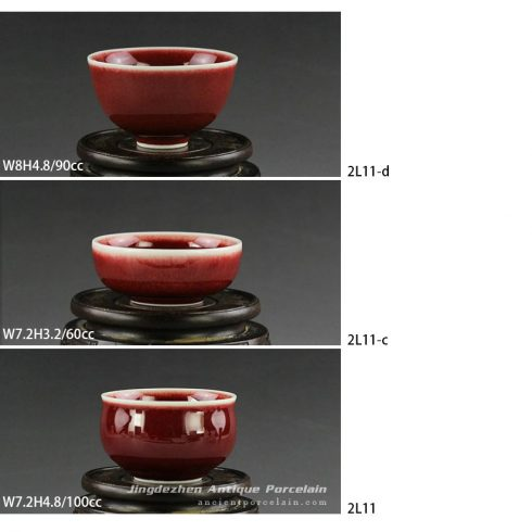 2L11_Jingdezhen oxblood tea cups