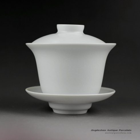 14FS22_Jingdezhen hand made solid color porcelain Gaiwan
