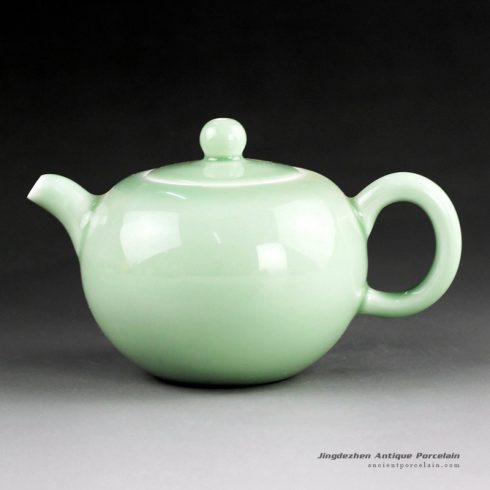 14FS35_solid color porcelain tea pot