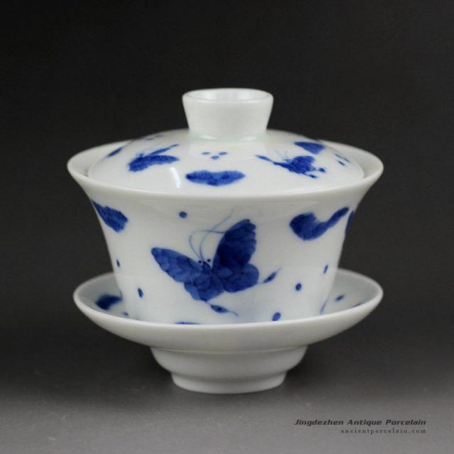 14ZDW01_Jingdezhen Gaiwan, butterfly design