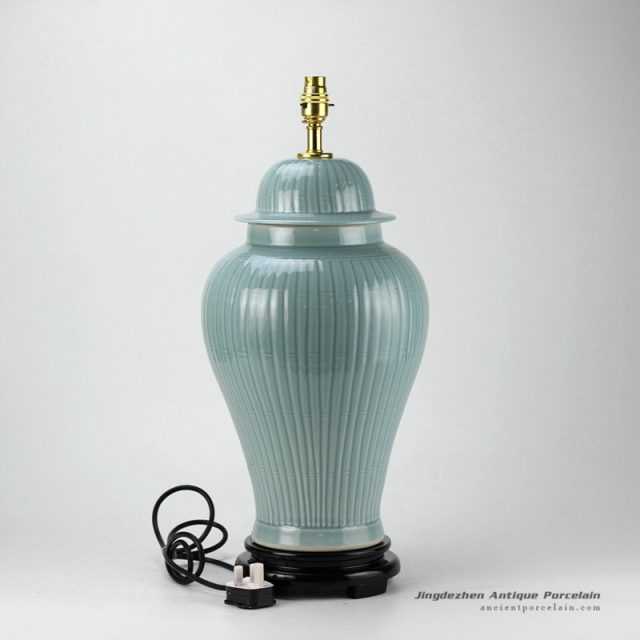 DS36-RYMA_Light blue bamboo pattern table lamps contemporary