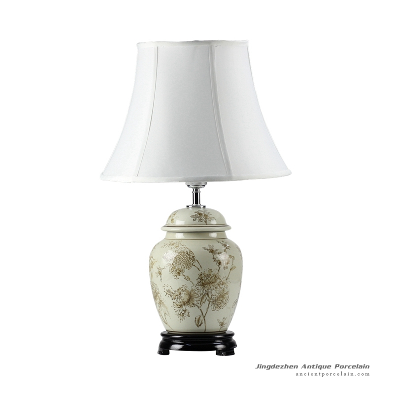 DS45-RYPU_Peony mark best seller porcelain ginger jar lamps