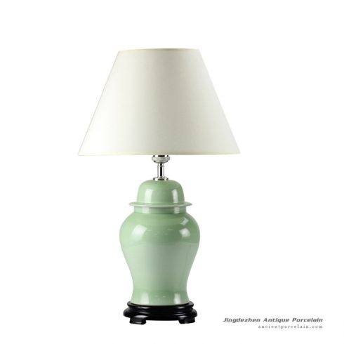 DS55-RYNQ_Lime green glaze oriental ceramic table lamps