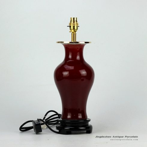 DS67-RZCN_Oxblood glaze best selling ceramic contemporary desk lamp for online sale