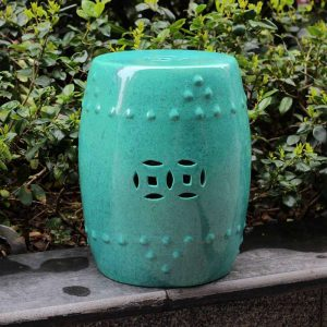 RYDB33_17.7inch Color Glazed Ceramic Garden Stool