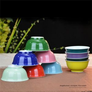 RYEI53_Different color solid color ceramic soup bowl