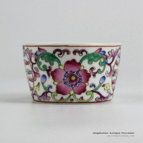 RYIC31-G_Fancy famille rose hand paint floral tea cups