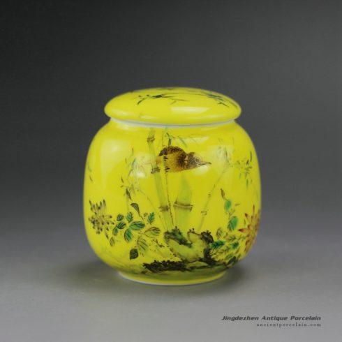 RYIC32_Hand Painted Enamel Tea Jars