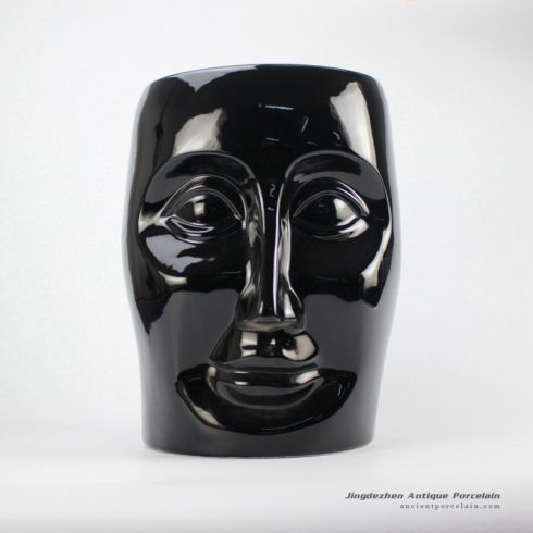 RYIR112-A_Ceramic Black Face Stool
