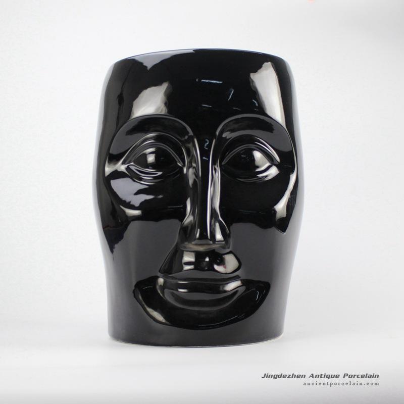 RYIR112-A_Ceramic Black Face Stool
