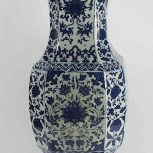 RYJF15_h21″ Chinese Crackle Blue & White Vases